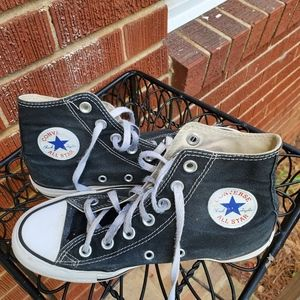 Converse All Star High Top Shoes Black and White